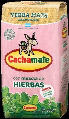 Cachamate - Mate Tee mit Kräuter 500g (rosa)