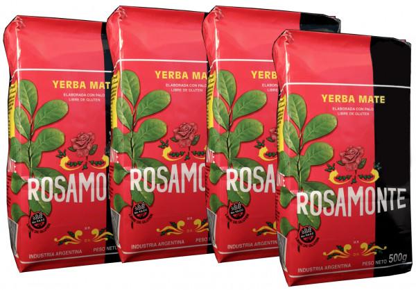 ROSAMONTE Yerba Mate Tee aus Argentinien 4x500g (2 Kg)