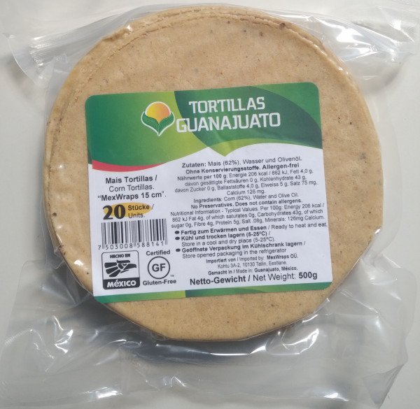Tortilla de Maiz - Guanajuato - Maistortilla aus Mexiko