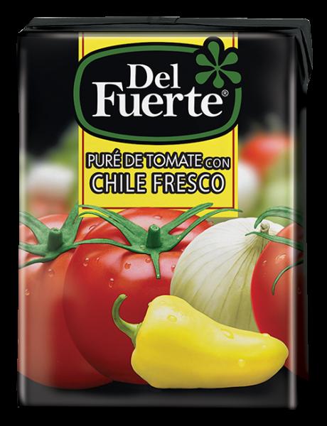 DEL FUERTE - Pure de Tomate con Chile fresco - 210g