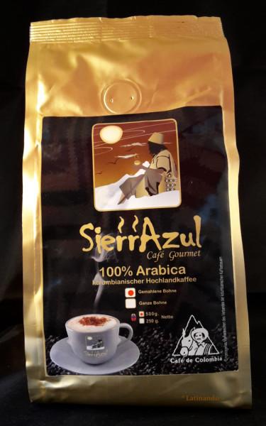 Gourmet Kaffee - SIERRAZUL - GEMAHLENE Bohnen