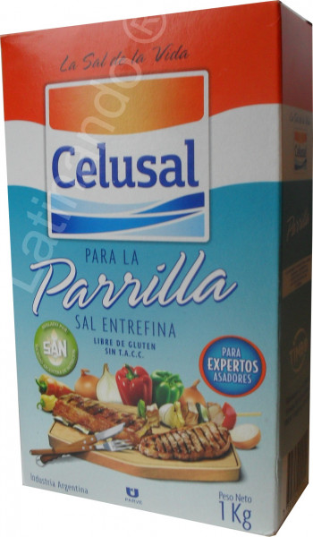 Grillsalz aus Argentinien | CELUSAL | Mittelgrob | Paket 1Kg
