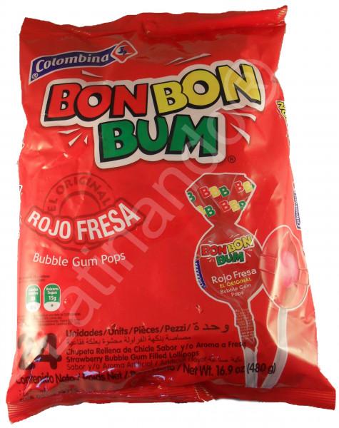 BON BON BUM | Fresa Erdbeer |Lollies aus Kolumbien