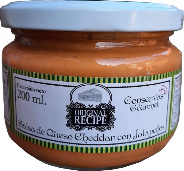 Salsa Cheddar con Jalapeno - Conservas Gourmet