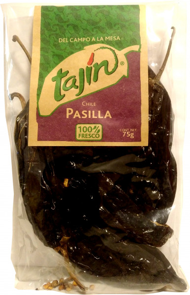Chile Pasilla - getrocknete Pasilla Chilischotten - TAJIN - 75g