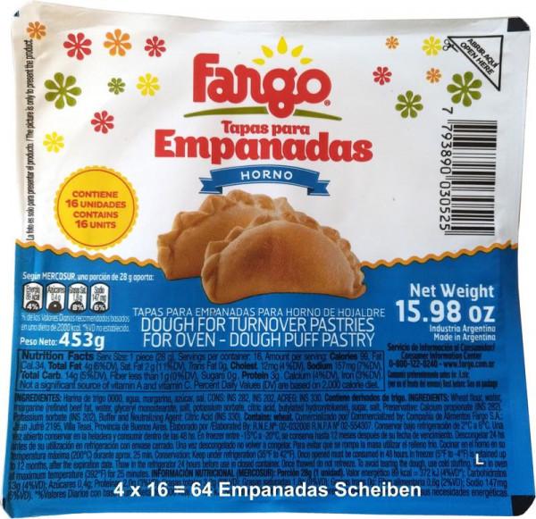 Empanadas Teig FARGO - Backofen - 4x16 (64 Scheiben)