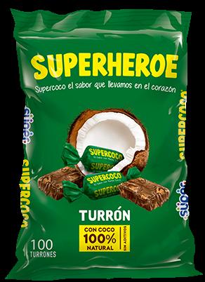 Supercoco - Turron mit Kokosnuss 100 Stk