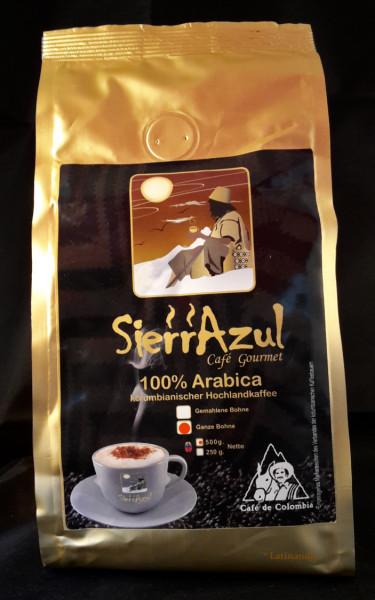 Gourmet Kaffee SierrAzul | 100% Arabica | Kolumbien | GANZE BOHNEN