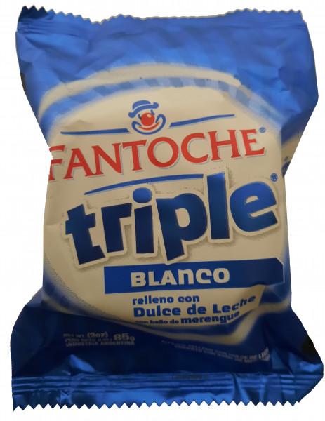 Alfajor Fantoche Triple Blanco 85g