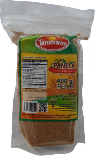 Panela Pulverizada | Rohrzucker Pulver aus Kolumbien | 400g