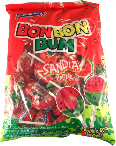 BON BON BUM Sandia - Lollies mit Kaugummikern