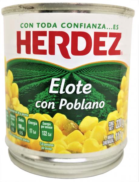 Elote con Poblano - HERDEZ 220g