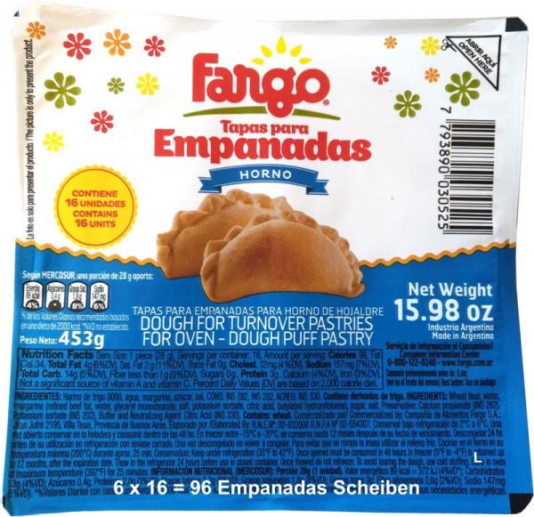 Empanadas Teig FARGO | Backofen | 6x16 (96 Scheiben)