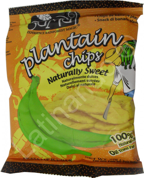 Bananenchips aus Kochbananen SAMAI - Natursüß - Ecuador