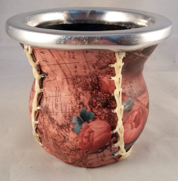 Glasmate Mate Becher aus Glas - Mate de vidrio forrado