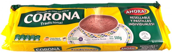 Chocolate CORONA | Trinkschokolade aus Kolumbien | 500g
