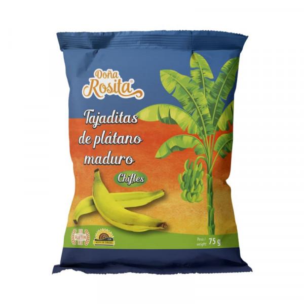 Tajaditas de plátano maduro - Kochbananenchips süß
