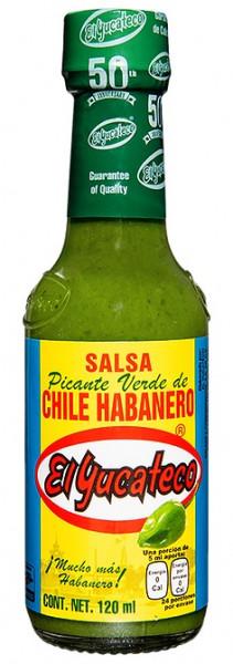 Salsa Picante Verde de Chile Habanero - EL YUCATECO